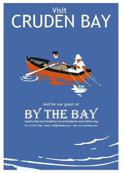 By the Bay fishing boat poster